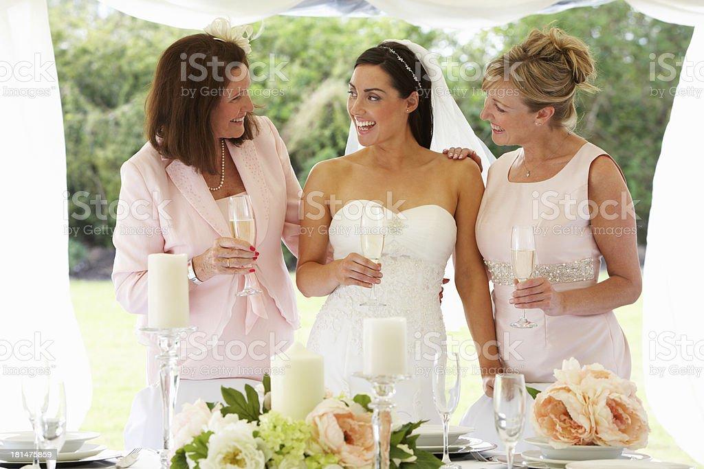 Multi Generation Women At Wedding royalty-free stock photo