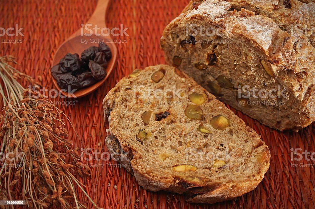 multi grain bread stock photo