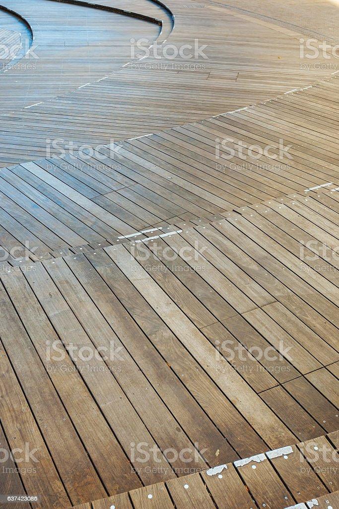 Multi levels Wood  Panel stock photo