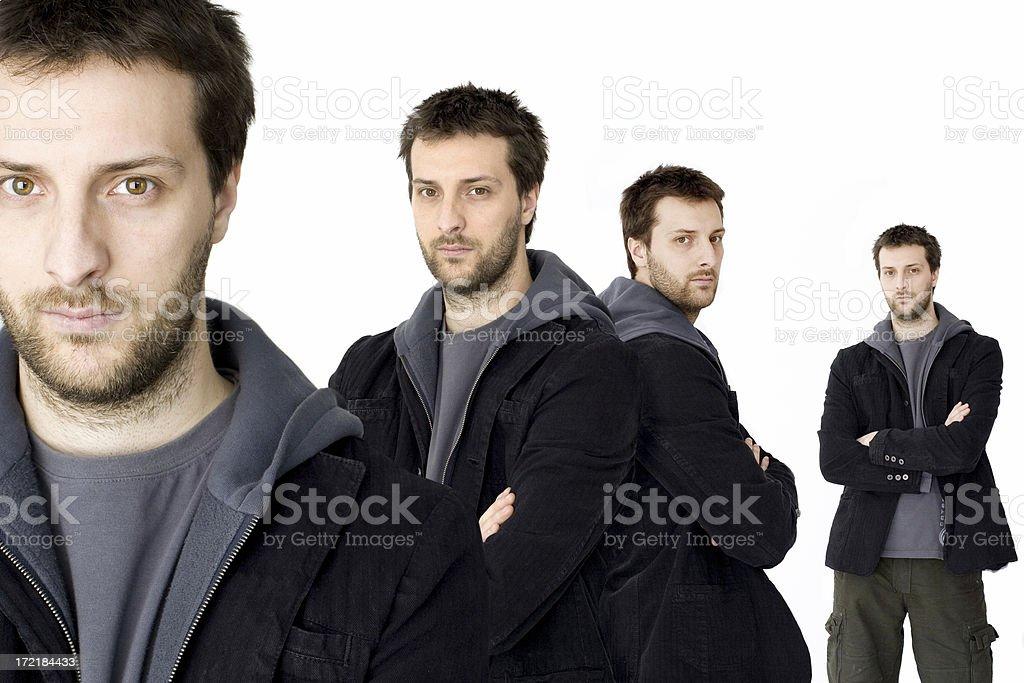 multi man royalty-free stock photo