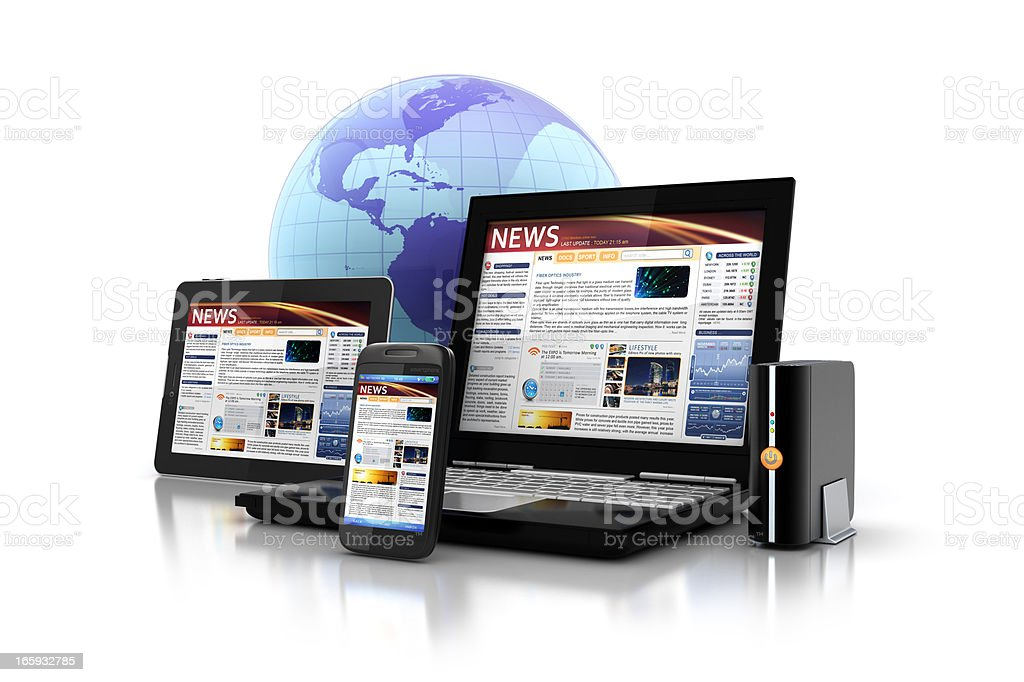 multi platform Media & Applications stock photo