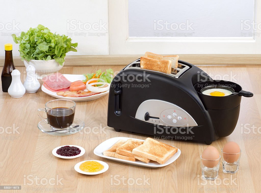Multi purpose bread toaster stock photo