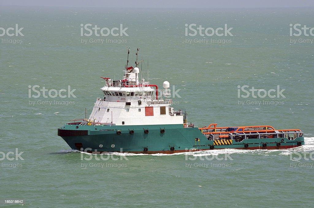 Multi purpose offshore vessel stock photo
