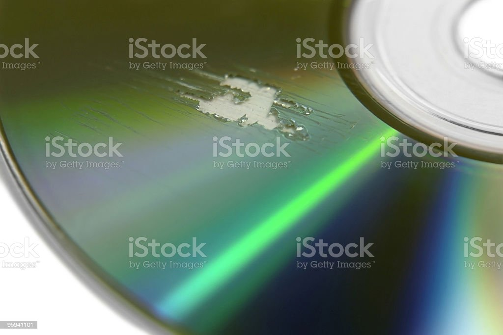 multi scratched CD surface royalty-free stock photo