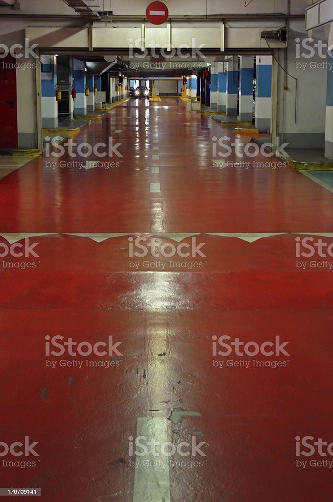 multi storey car park interior royalty-free stock photo