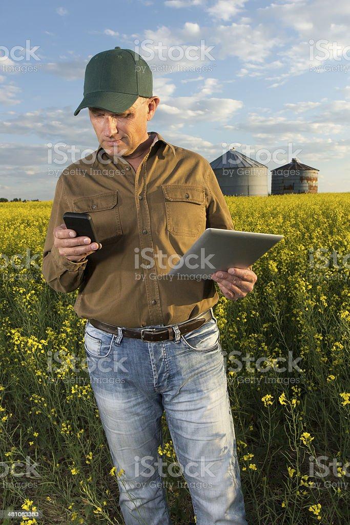 Multi tasking Farmer royalty-free stock photo