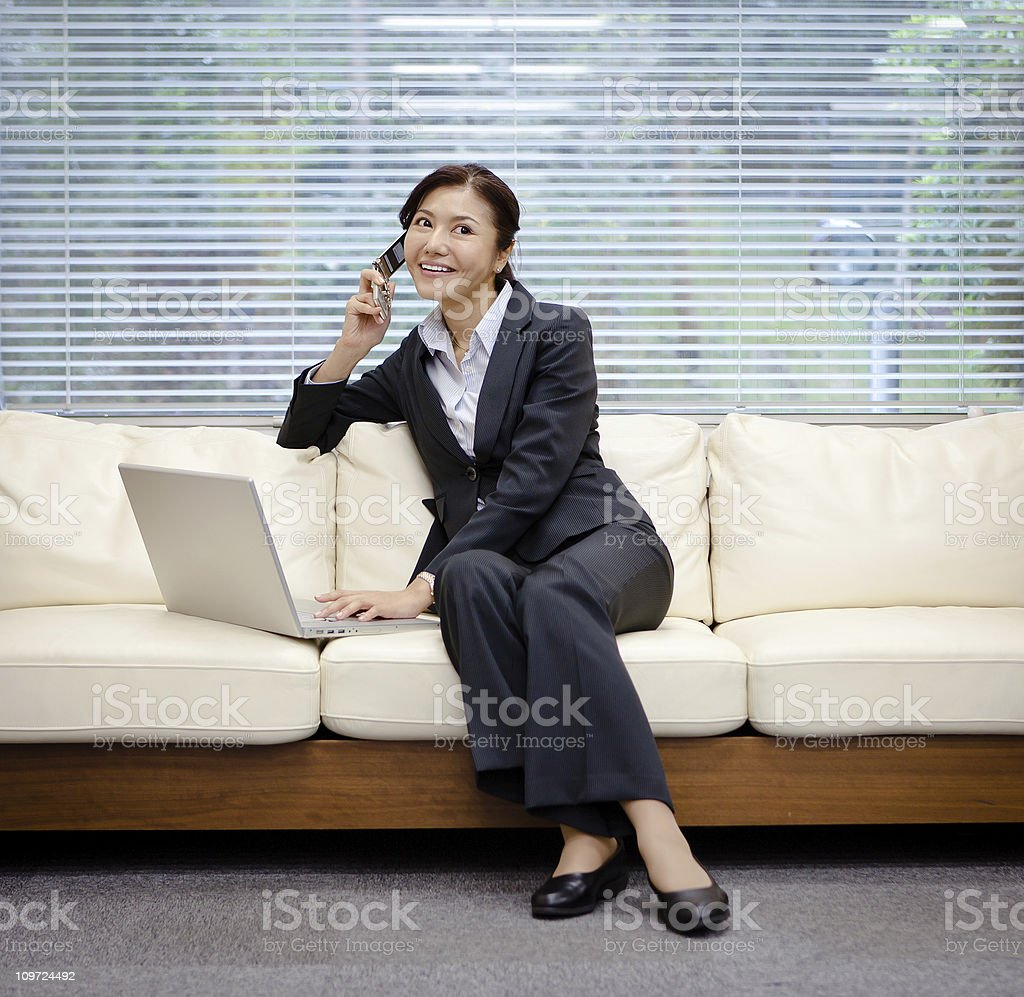 Multi tasking royalty-free stock photo