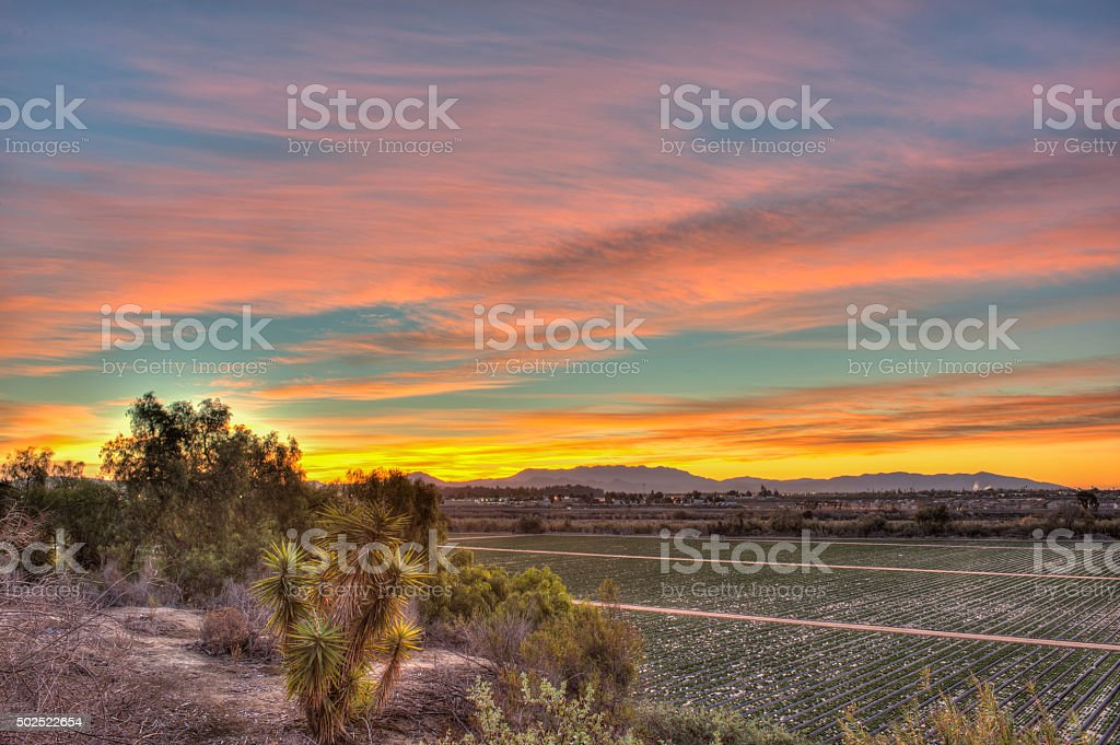 Multi tiered levels of land stock photo