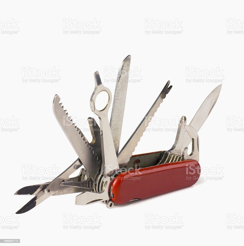 Multi tool penknife stock photo