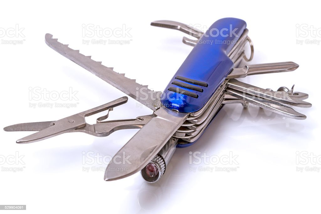 Multi tools clasp-knife stock photo