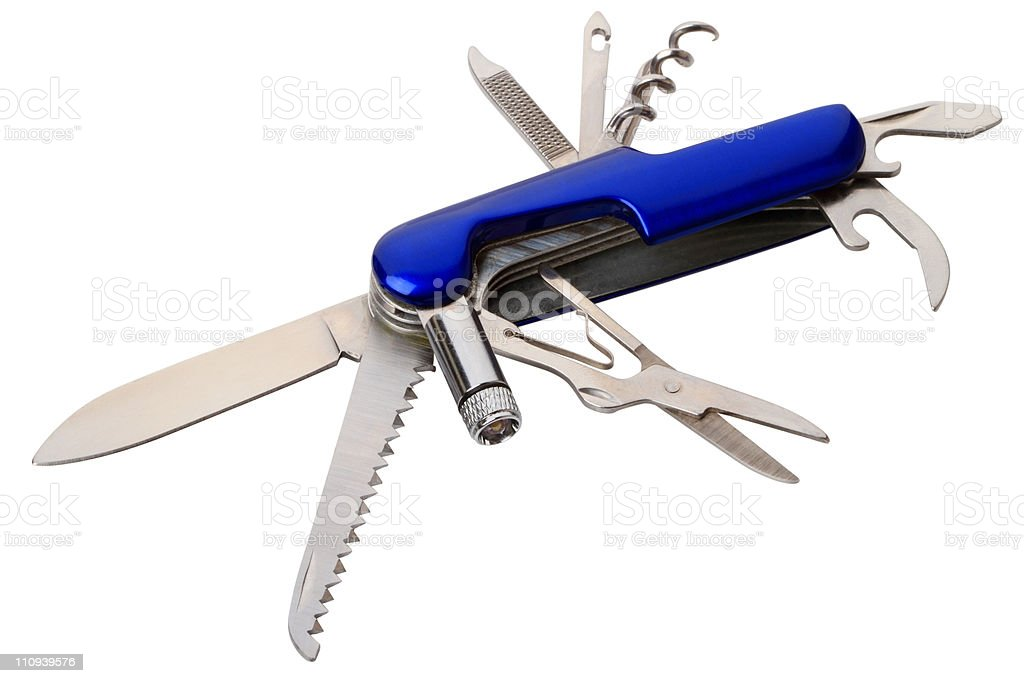 Multi tools knife stock photo