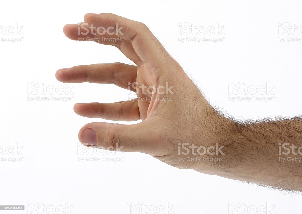 Multi Touch Screen Fingers stock photo