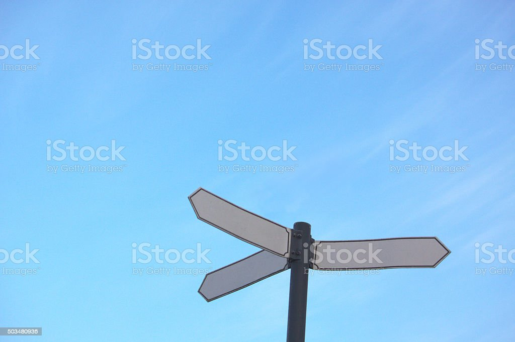 multi way sign stock photo