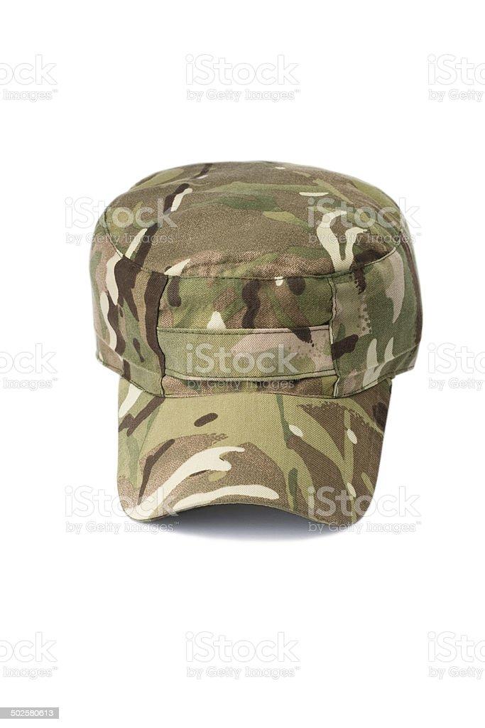 Multicam cap stock photo