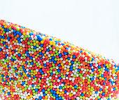 multicolor balls on white background