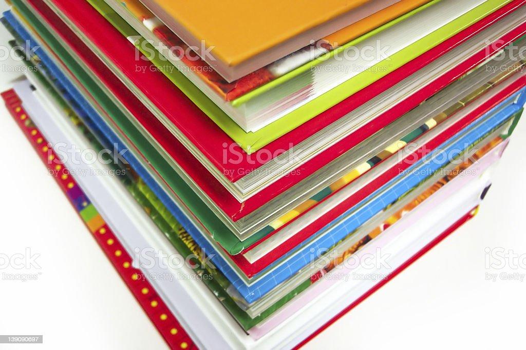 multicolor books stock photo