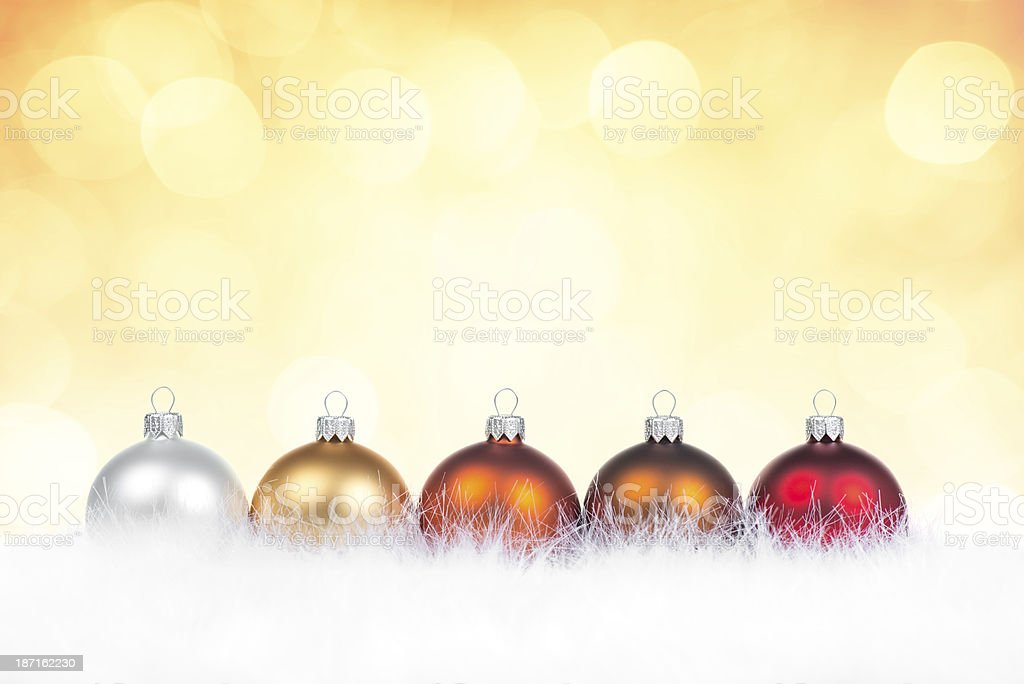 Multicolor clean baubles in line royalty-free stock photo