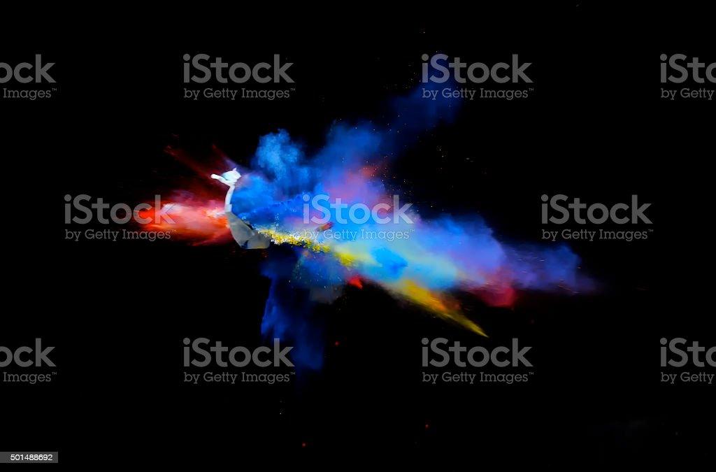 Multi-Color Explosion eleven stock photo