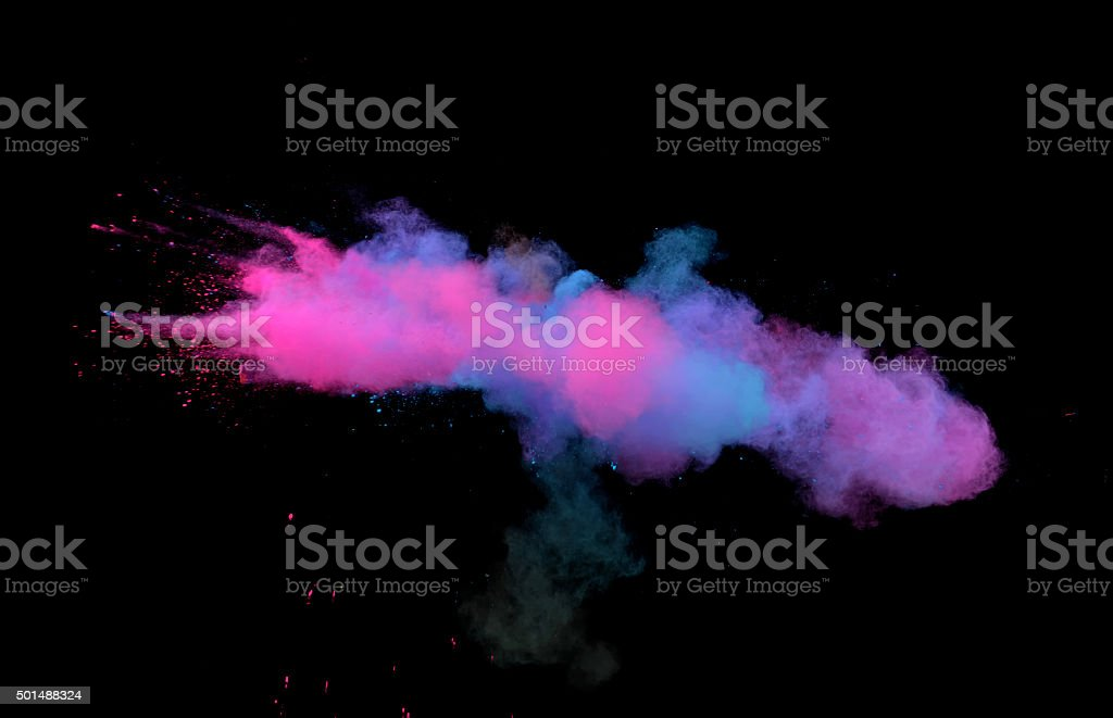 Multi-Color Explosion four stock photo
