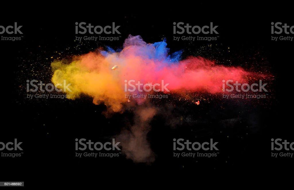 Multi-Color Explosion nine stock photo