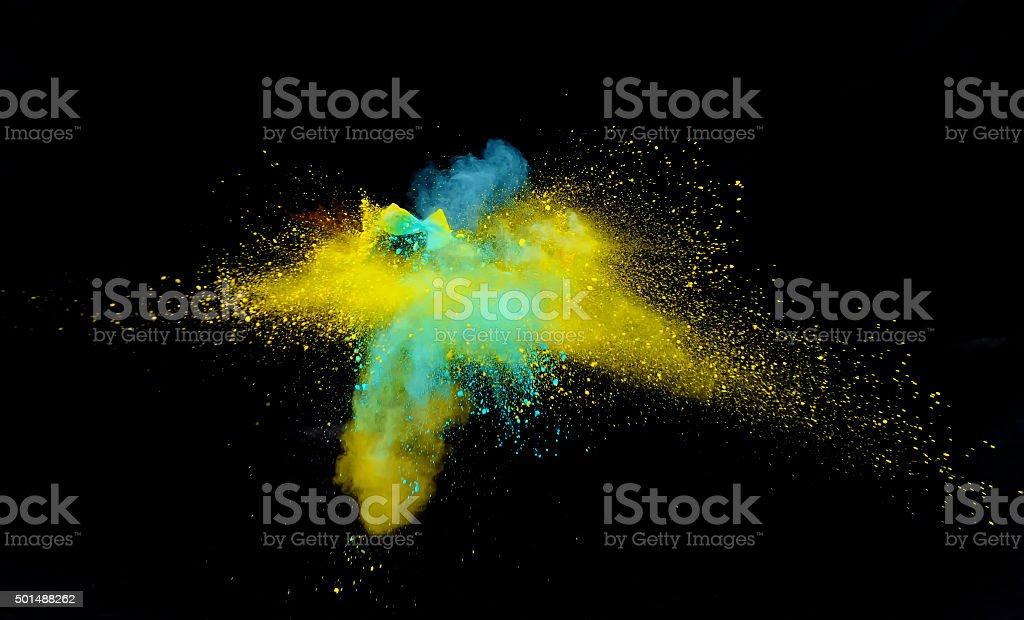 Multi-Color Explosion three stock photo
