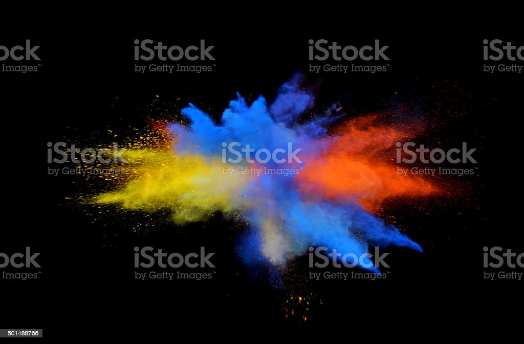 Multi-Color Explosion twelve stock photo