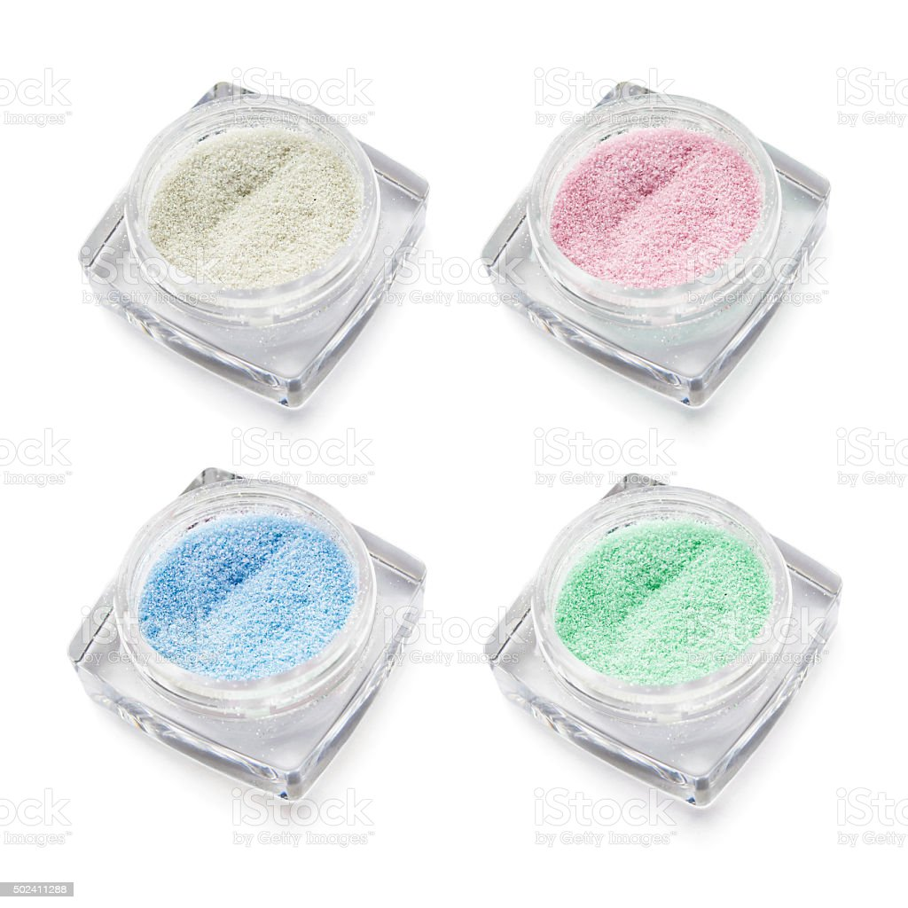 Multicolor eye shadows stock photo