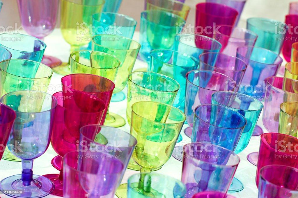 multicolor glass stock photo