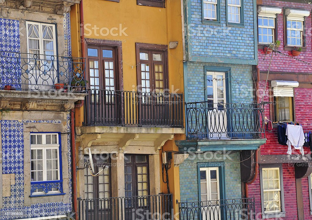 Multicolor houses of Porto stock photo