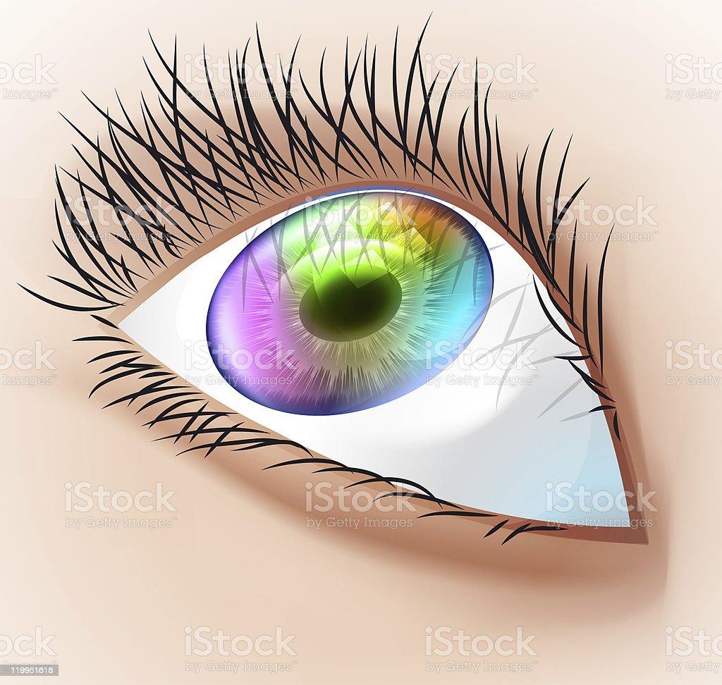 Multicolor human eye. royalty-free stock photo