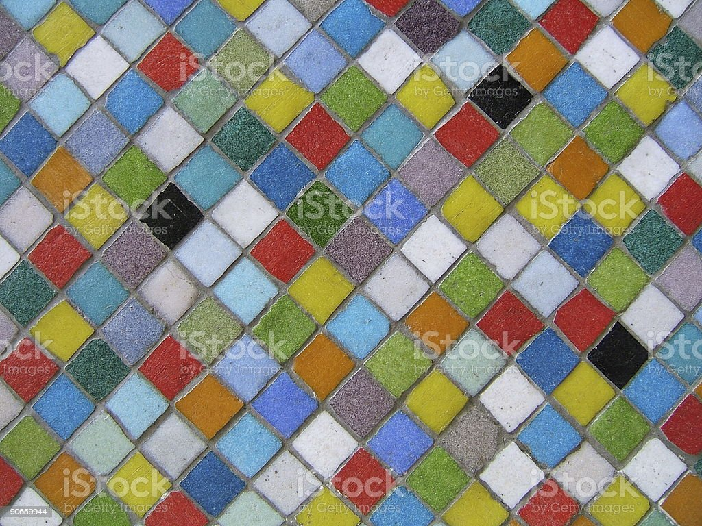 Multicolor mosaic royalty-free stock photo