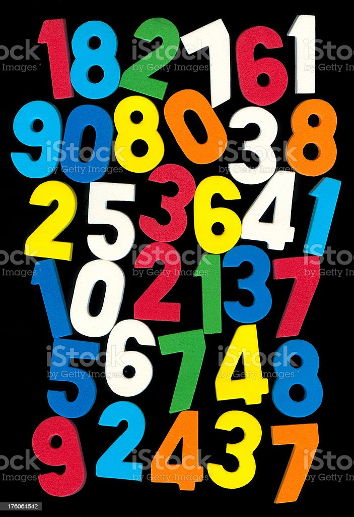 Multicolor Numbers royalty-free stock photo