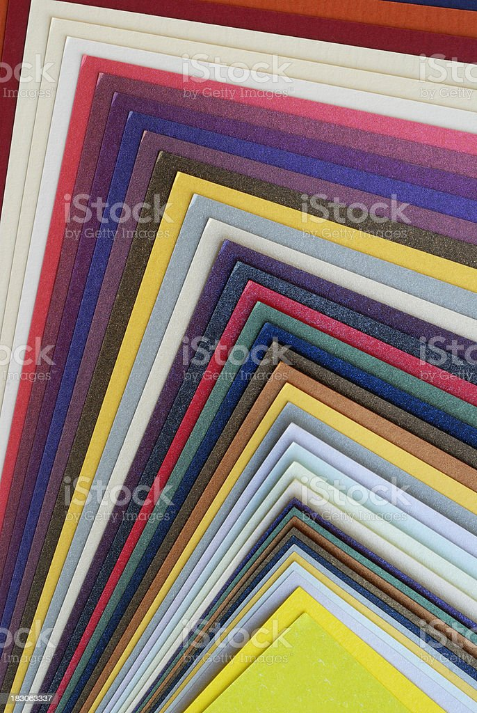 Multicolor paper royalty-free stock photo