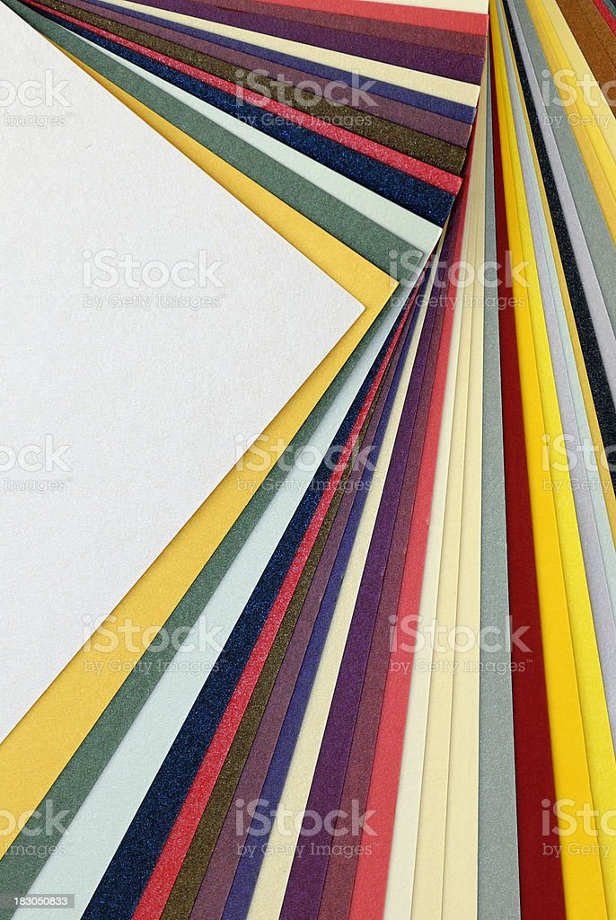 Multicolor paper samples for copyspace royalty-free stock photo