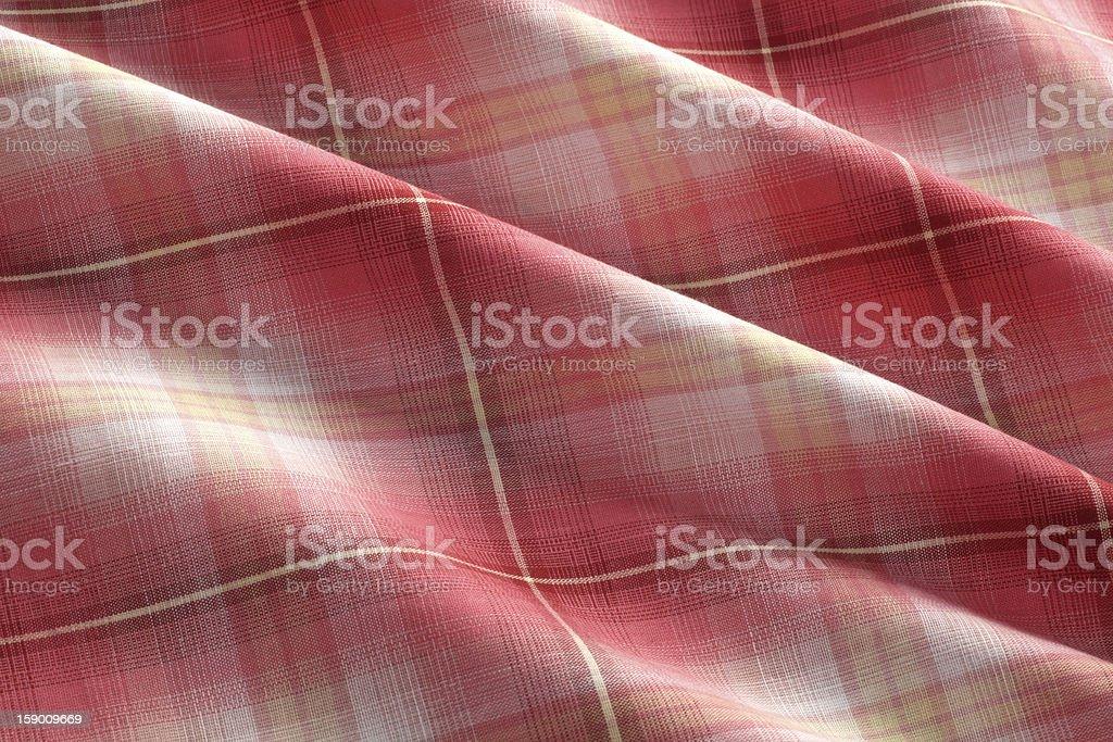 Multicolor Plaid Cotton Fabric royalty-free stock photo