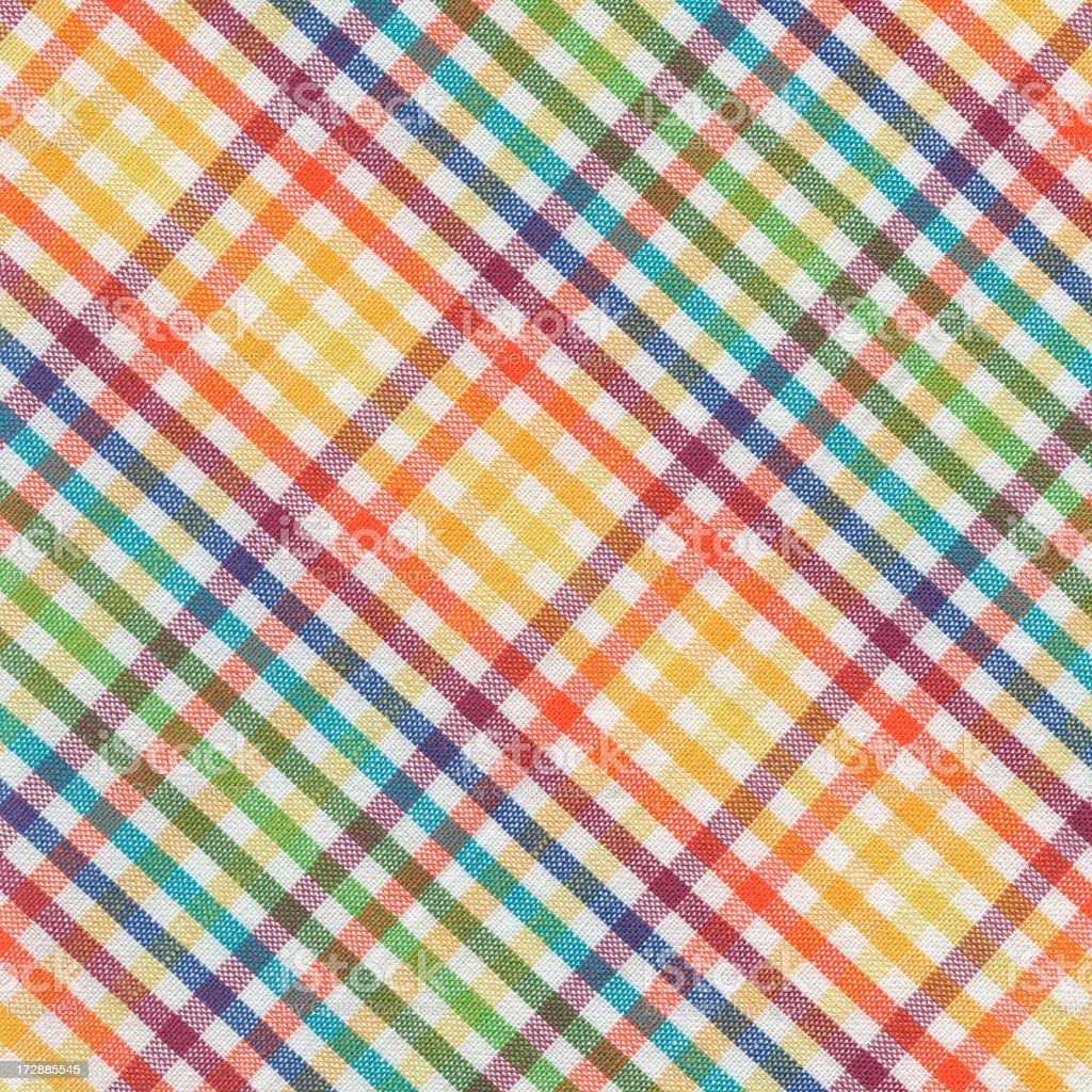 multicolor plaid fabric royalty-free stock photo
