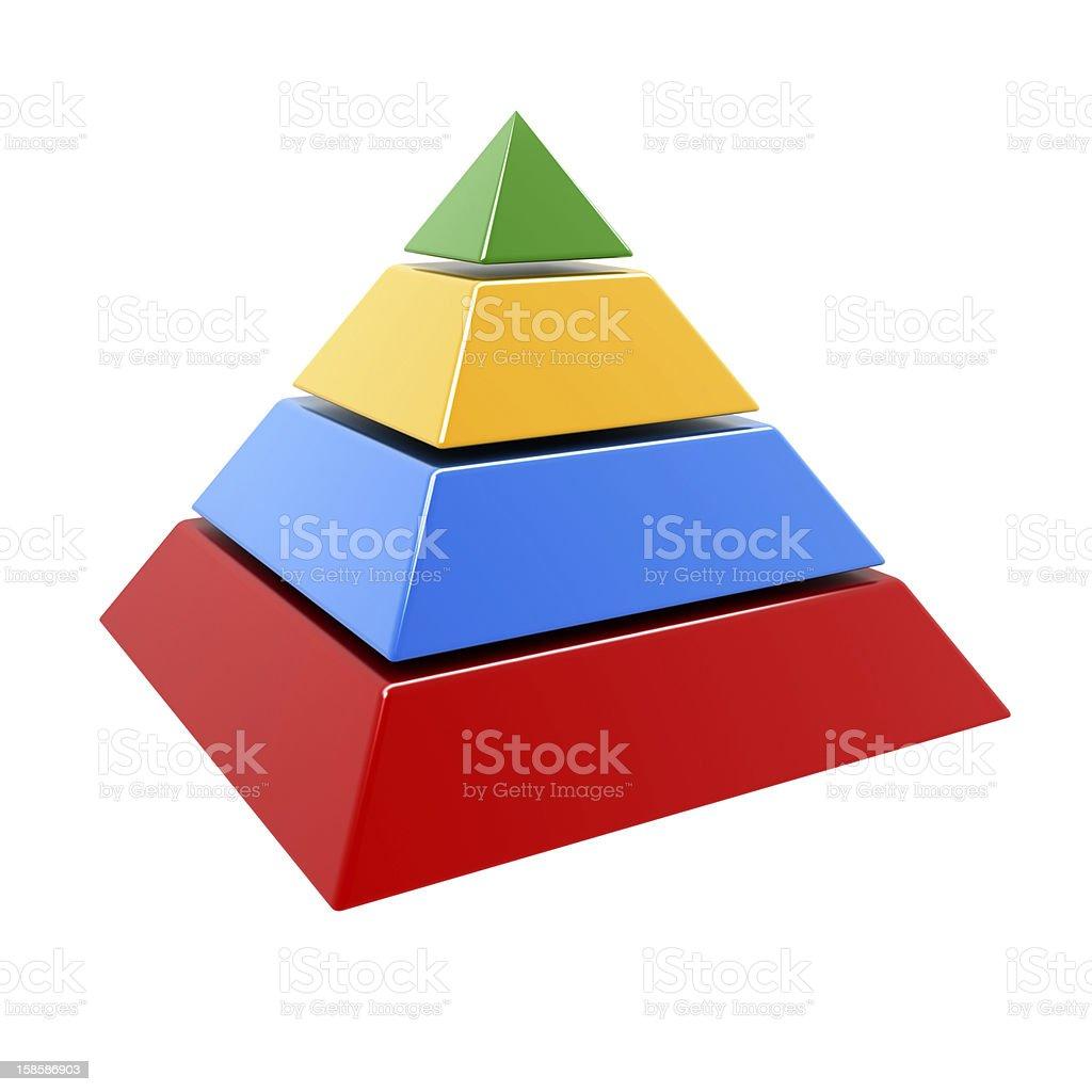 multicolor pyramid stock photo