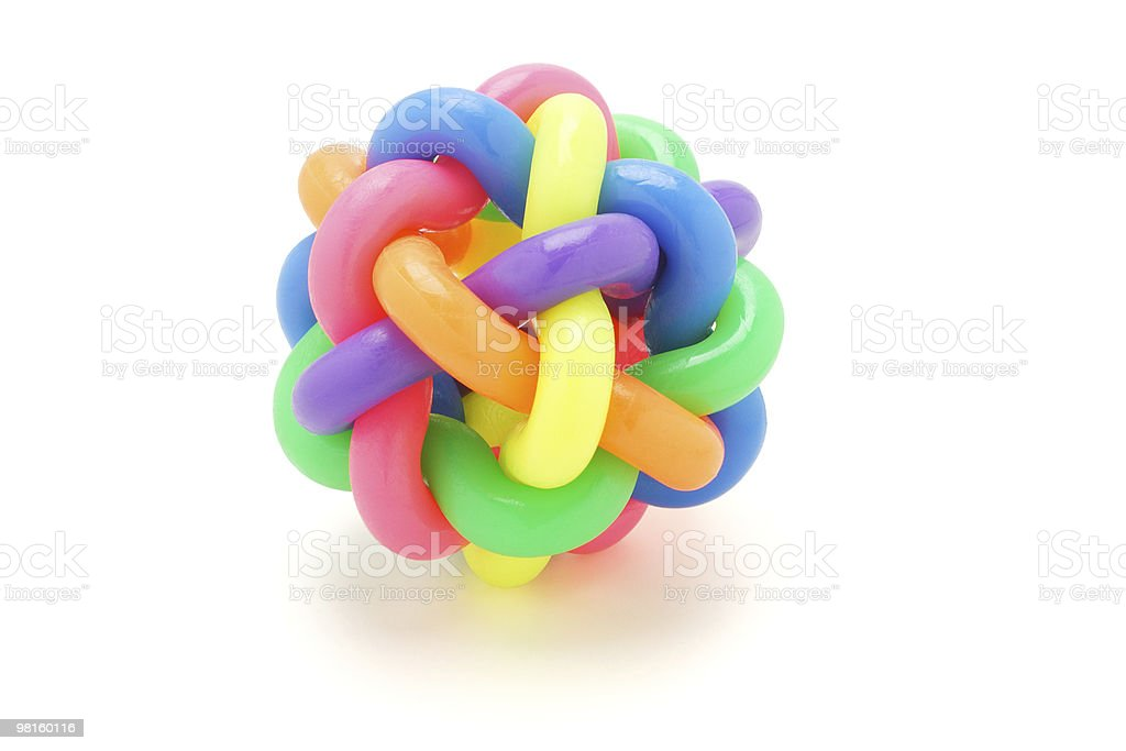 multicolor rings ball stock photo