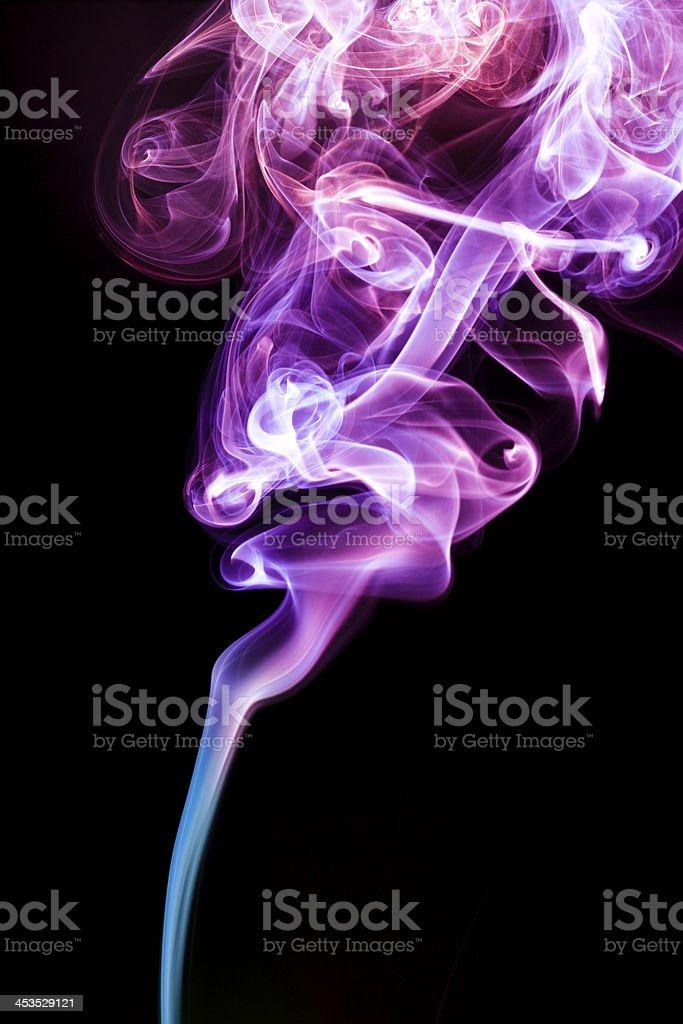 multicolor smoke rises up royalty-free stock photo