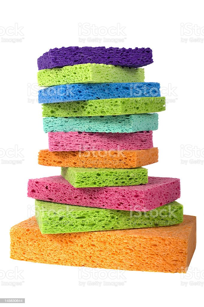 Multicolor Sponges royalty-free stock photo