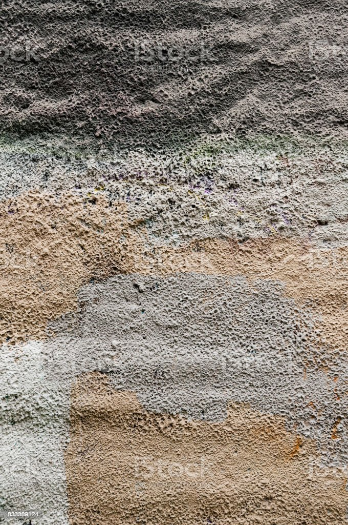 multicolor stucco wall texture stock photo