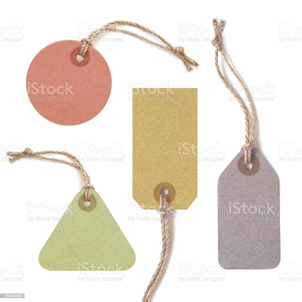 Multicolor tags royalty-free stock photo