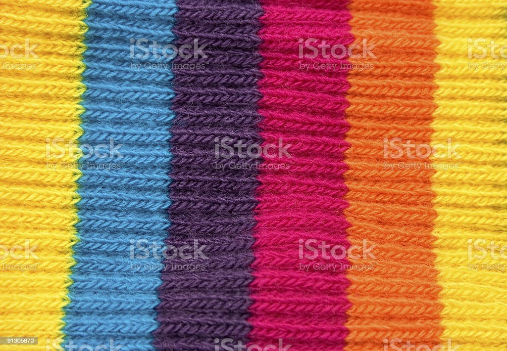 Multicolor textile woolen pattern close up royalty-free stock photo