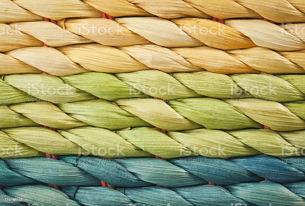 Multicolor Wicker Macro Texture royalty-free stock photo