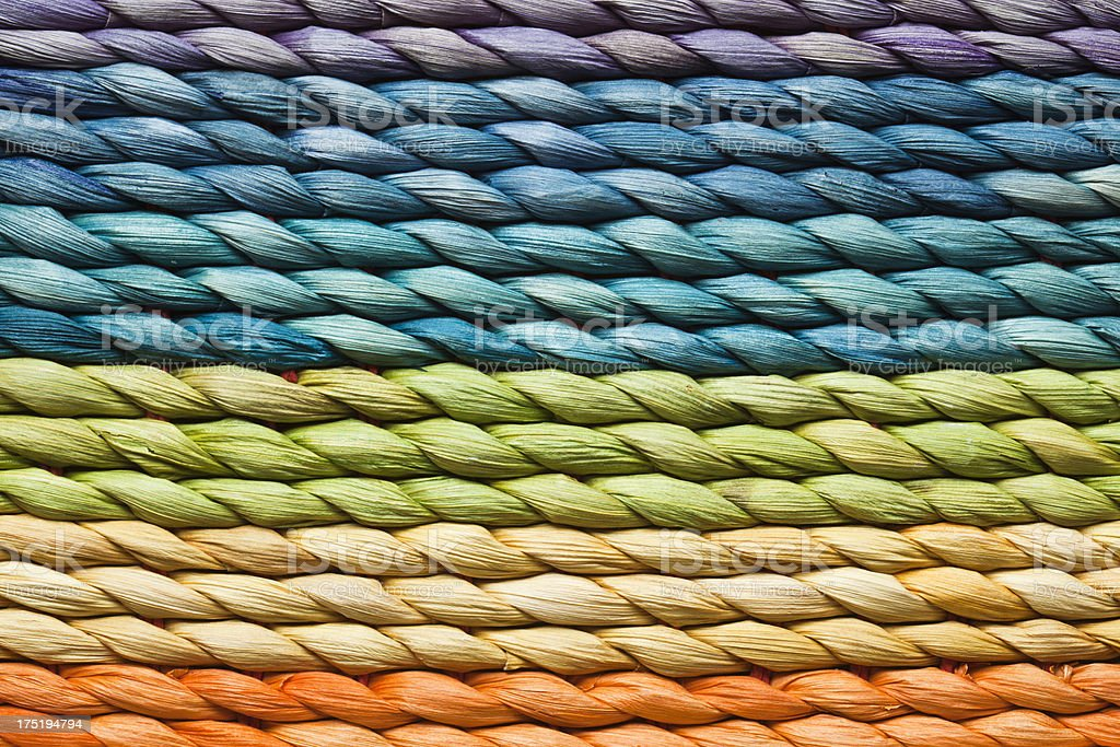 Multicolor Wicker Work Texture royalty-free stock photo