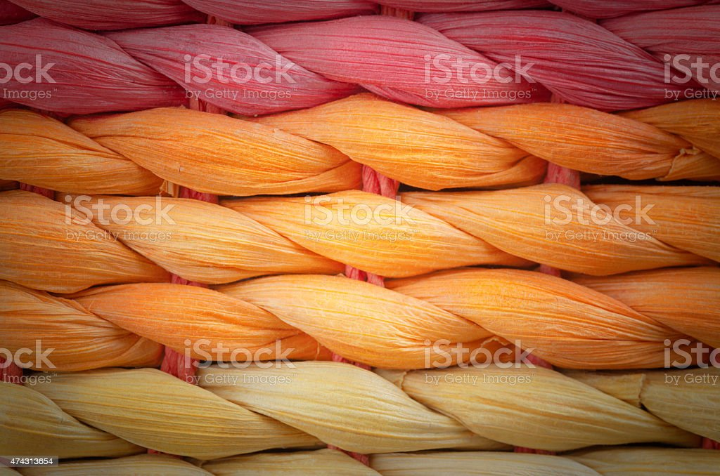 Multicolor Wicker Work Texture stock photo