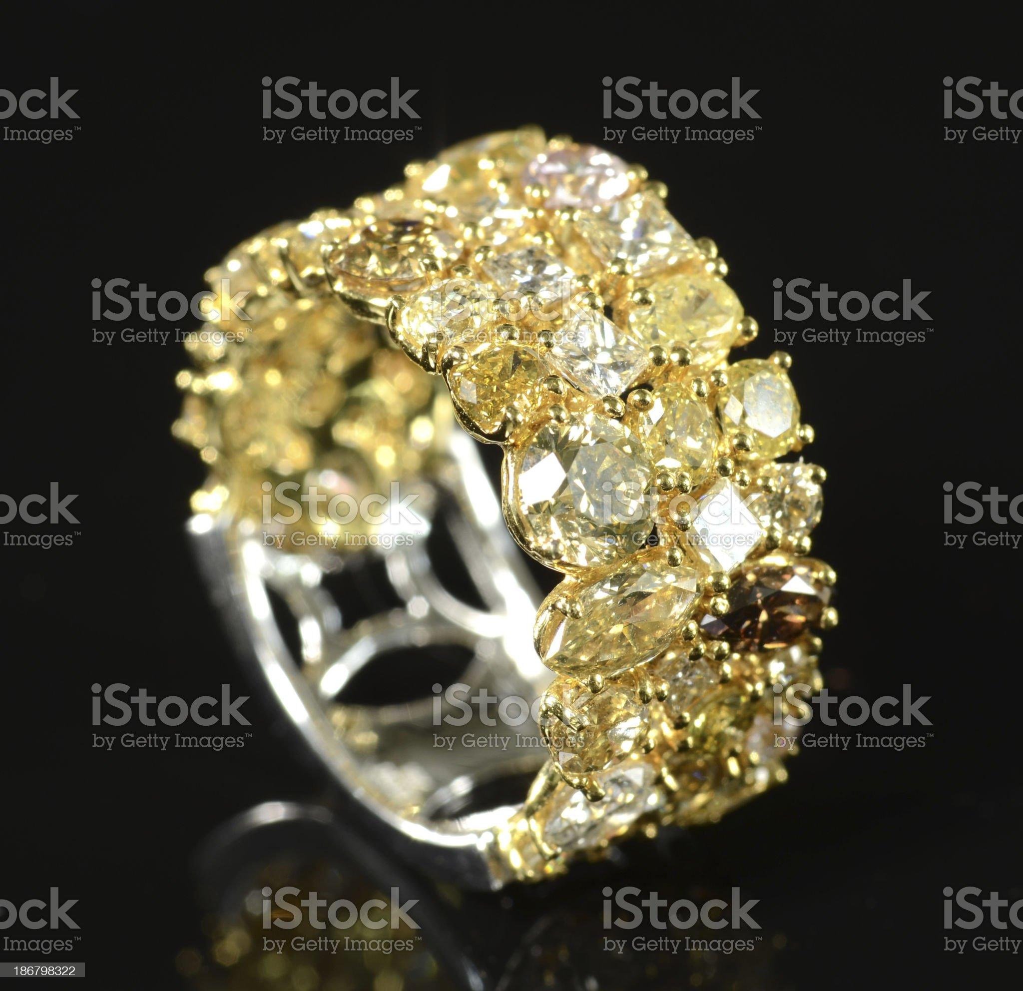 Multi-Color Woman's Diamond Ring royalty-free stock photo