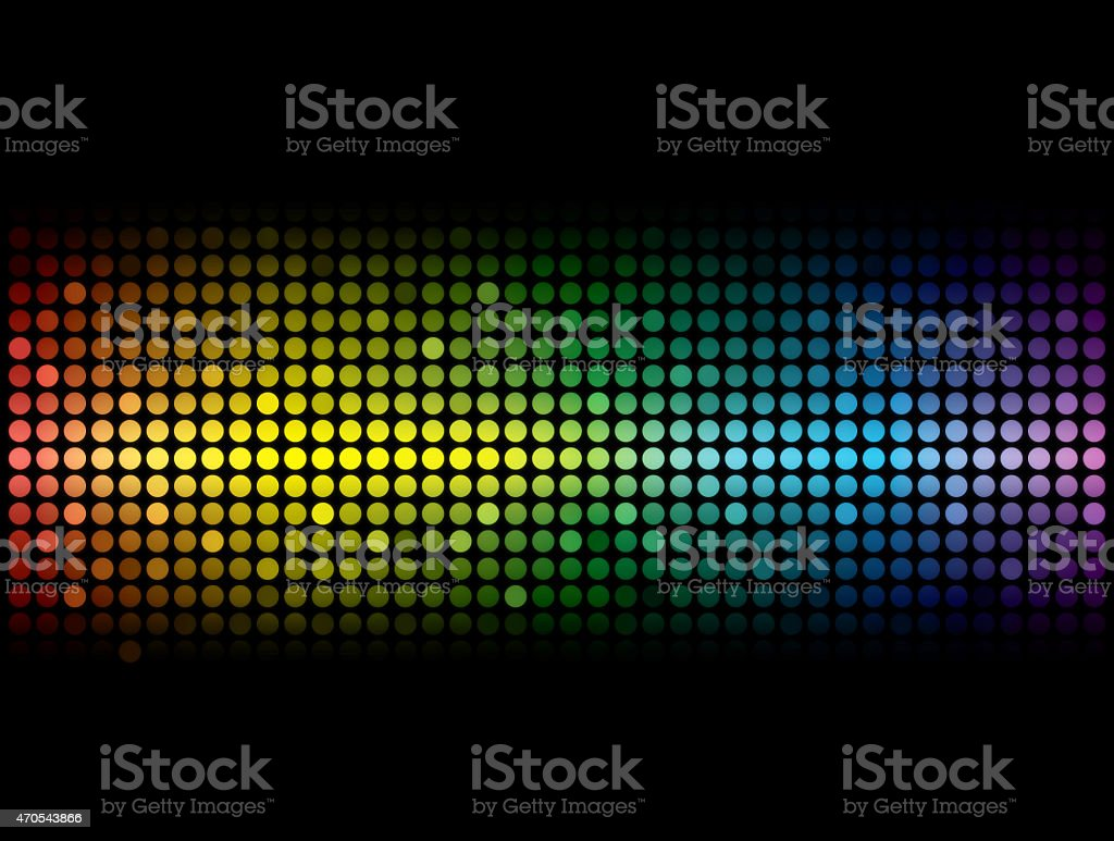 Multicolored abstract wave. stock photo