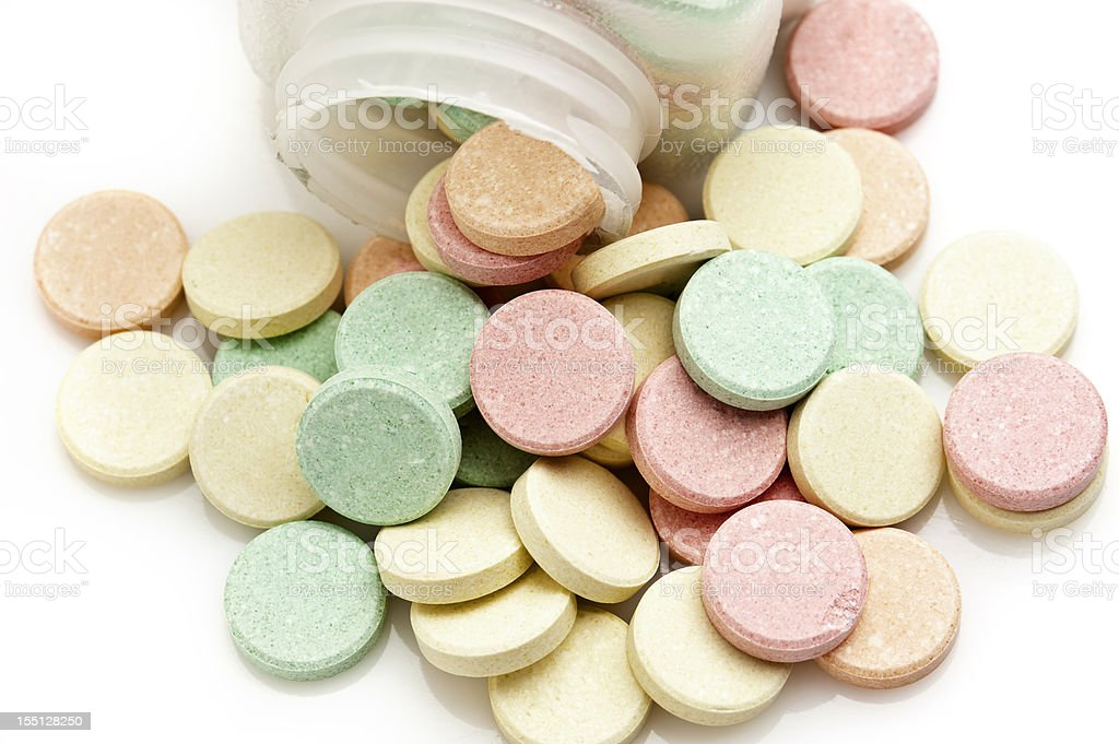 Multicolor Antiacid Tablets stock photo