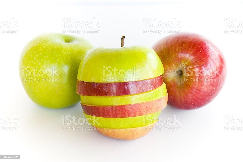 Multi-Colored Apples stock photo